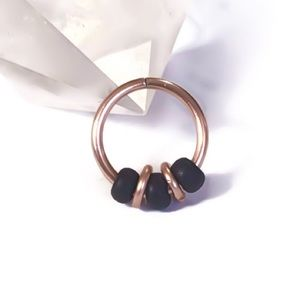 20G Beaded Cartilage Hoop Earring Nose Ring